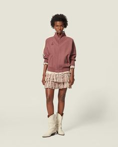 Are you looking forSHORT SKIRT Women by Isabel Marant? Find out all the details on our official online store and shop now your fashion icon. Isabel Marant, Short Skirts, Printed Cotton, Smocking, Style Icons, Lace Skirt, Shop Now, Model, How To Wear