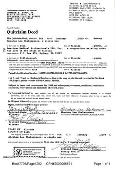 Quitclaim Deed U2026