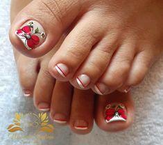 Nail Spa, Diana, Designed Nails, Flower Toe Nails, Pretty Toe Nails, Cute Nails, Toe Nail Art