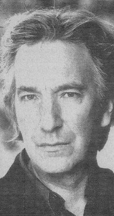 """fuckyeahrickman: """"Must be from a newspaper or something, but Alan looks good through any medium of print. """""""