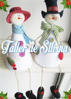 Pareja nieve All Things Christmas, Christmas Crafts, Xmas, Christmas Ornaments, Christmas Ideas, Santa Decorations, Arts And Crafts, Paper Crafts, Christmas Centerpieces
