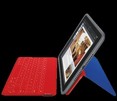 Logitech protective cases and stands for iPad and Android