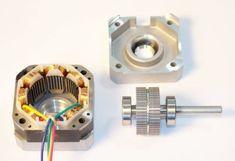 Stepper motor parts.