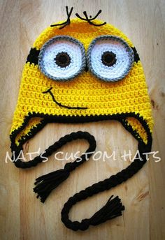 Newborn to Adult Crochet Despicable Me Minion Hat Made to Order   #crochet #pattern #knitting