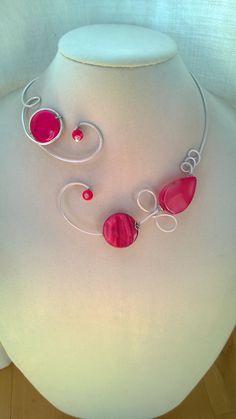 Fuchsia pink jewelry Wedding jewelry Open by LesBijouxLibellule