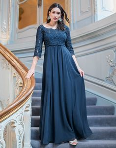 9863cd4535864 The Teal Lace Maternity Gown is a glamorous option for special occasions  before, during &