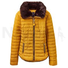 adce5af3a Joules Ladies Gosfield Short Padded Coat Caramel