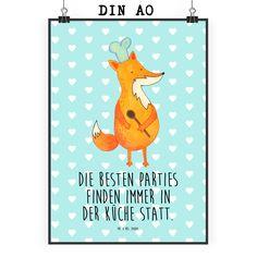 Poster DIN A0 Fuchs Koch aus Papier 160 Gramm  weiß - Das Original von Mr. & Mrs. Panda.  Jedes wunderschöne Motiv auf unseren Postern aus dem Hause Mr. & Mrs. Panda wird mit viel Liebe von Mrs. Panda handgezeichnet und entworfen.  Unsere Poster werden mit sehr hochwertigen Tinten gedruckt und sind 40 Jahre UV-Lichtbeständig und auch für Kinderzimmer absolut unbedenklich. Dein Poster wird sicher verpackt per Post geliefert.    Über unser Motiv Fuchs Koch  Die Fox Edition ist eine besonders…