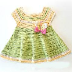 Crochet For Children: Butterfly Kisses Baby Dress - Free Pattern