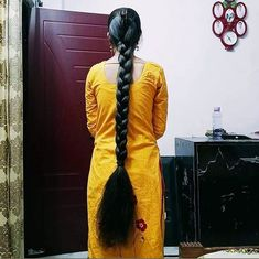 Loose Hairstyles, Indian Hairstyles, Braided Hairstyles, Beautiful Braids, Beautiful Long Hair, Beautiful Women, Two Braids, Braids For Long Hair, Indian Long Hair Braid