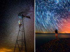 Interesting star trail effect by João P. Santos.