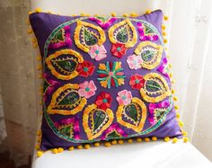 Purple Turkish Traditional Decorative Pillow by prettysurprise, $29.00