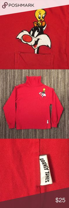 32c3ffaf02a7c2 Vintage Looney Tunes Turtleneck Long Sleeve Shirt Good condition for its  age. Made in 1992
