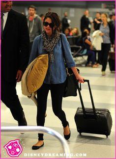 Selena Gomez Arrives On A Flight In New York City On June 8, 2012