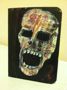 """""""Decomposition Notebook"""" notebook with hand painted cover art by jack larson #Abstract"""
