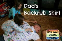 Pink and Green Mama: Homemade Father's Day Gift - Backrub T-Shirt