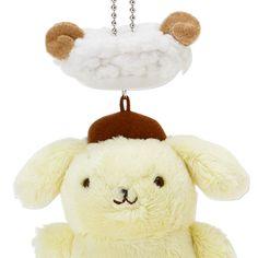 POMPOMPURIN Plush Doll Mascot Chain Key Ring Sheep Hat SANRIO JAPAN