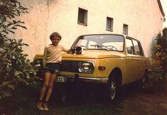 Mit Hund: Györgys erstes Auto. Ein 1975er Wartburg 353.  Bild: György Jung http://autostolz.formfreu.de/2015/03/08/mit-hund/
