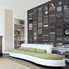 Super Cool Music Speaker Stack Self Adhesive Wallpaper for all aspiring musicians