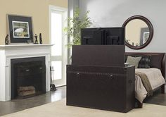 Ellis Trunk End of Bed or Living Area Motorized TV Lift Cabinet