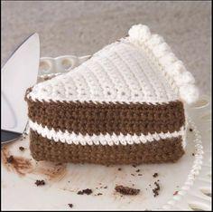 Yummi Gurumi Over 60 Gourmet Crochet Treats to Make - Pattern Chocolate Cake Slice