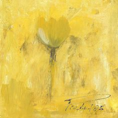 Yellow Tulip Abstract Minimalist Painting  Art for by LisbonStore, $30.00