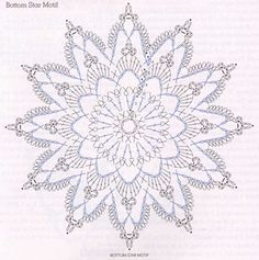 Crochet star diagram by johnPatterns and motifs: Crocheted motif no.World crochet: My works 103 Crochet Snowflake Pattern, Crochet Doily Diagram, Crochet Stars, Crochet Circles, Crochet Snowflakes, Crochet Doily Patterns, Thread Crochet, Crochet Doilies, Crochet Flowers