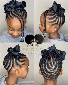 62 Box Braids Hairstyles with Instructions and Images - Hairstyles Trends Little Girls Natural Hairstyles, Toddler Braided Hairstyles, Little Girl Braid Hairstyles, Black Kids Hairstyles, Baby Girl Hairstyles, Protective Hairstyles, Hairstyles 2018, Wedding Hairstyles, Protective Styles