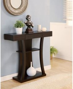 Furniture Of America Malenzo Podium Inspired Coffee Table Cappuccino Based in California, Furniture of America has spent more than 20 years establishi. Entryway Furniture, Home Decor Furniture, Entryway Decor, Home Furnishings, Entryway Tables, Diy Home Decor, Furniture Design, Furniture Removal, Bedroom Furniture