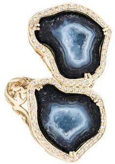 14K Geode & Diamond