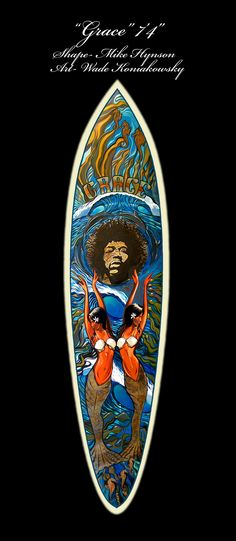surfboard art collab with Mike Hynson