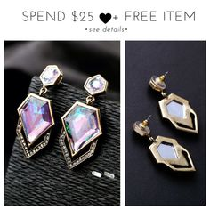 • Beautiful Geometric Earrings • A great gift for yourself or loved one! A beautifully crafted fashion jewelry that can add a flirtatious fun to any outfit you wear! Made of alloy. Color may be slightly different from the actual item due to the lighting. Bundle and save! :)  + gives discount on bundles | + 30% off for return customers | + ships the next day | + feel free to make a reasonable offer | Jewelry Earrings