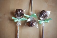 these are vintage teaspoons dipped with chocolate. your guests can take them home and stir into some hot milk to make a yummy hot chocolate! what a lovely favour!