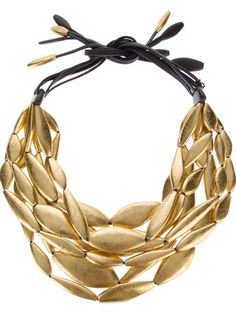 Shop designer necklaces for women at Farfetch for of designs from all your favorite brands, including Alexander McQueen, Gucci and more. Monies Jewelry, Diy Jewelry Necklace, Wood Necklace, Bead Jewellery, Necklace Designs, Statement Jewelry, Jewelry Art, Beaded Jewelry, Unique Jewelry