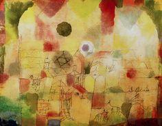 Kosmisch durchdrungene Landschaft (Cosmic Landscape) 1917 Art Print by Paul Klee at King & McGaw