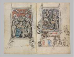 Jean Pucelle - Livre d'heures de Jeanne d'Évreux - 1325-28, Metropolitan Museum, New-York