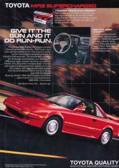 Toyota MR2 buyers ad