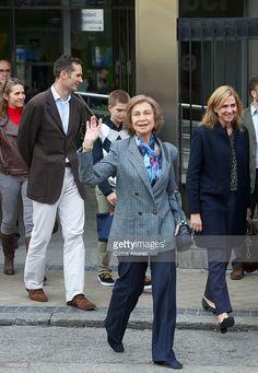 Queen Sofia of Spain visits King Juan Carlos of Spain at USP San Jose Hospital on November 25...