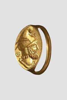 A Greek gold seal ring, 4th century B.C.