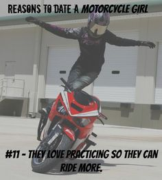 more reasons to date a motorcycle girl