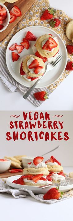 These delicious vegan Strawberry Shortcakes are made with a coconut cream biscuit and coconut whipped cream for the perfect springtime dessert. Click the photo for the full recipe.