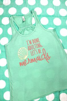 Choose from any of our vibrant heat press vinyl colors and give this tank a fun, beachy touch! #mermaids