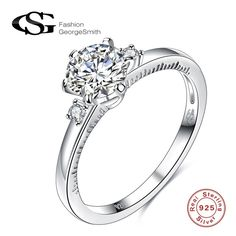 Good price GS Rings For Women 925 Sterling Silver Ring Fashion Body Jewelry Exquisite Inlaid Zircon Jewelry Ring bague for lady Bijoux just only $5.96 with free shipping worldwide  #weddingengagementjewelry Plese click on picture to see our special price for you