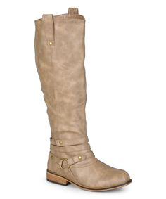 Taupe Walla Extra Wide-Calf Boot extra wide calf boots for women, check to see different sizes, colour and designs.