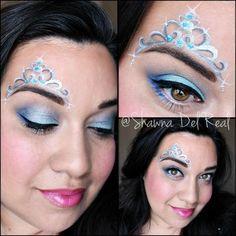 Princess crown face painting