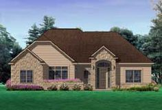 Traditional Style House Plans - 1994 Square Foot Home, 1 Story, 3 Bedroom and 2 3 Bath, 2 Garage Stalls by Monster House Plans - Plan 76-105