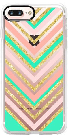 Casetify Protective iPhone 7 Plus Case and iPhone 7 Cases. Other Pattern iPhone Covers - Modern Boho Pink by Girly Trend | Casetify