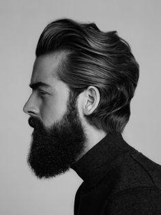 vintage mens haircut beard