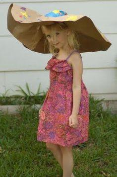 DIY kentucky derby hat! paper proper topper, love it.