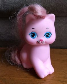 ~Mattel~ Vintage 1989 Little Pretty Kitty Kitten MIMI Pink Cat Yellow Star #Mattel
